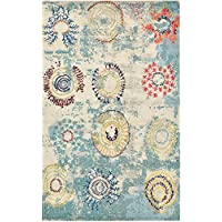 A2Z Rug Modern Mayfair Collection, Beige 5.1-Feed-by-8-Feed Area Rugs - Contemporary Living & Dinning & Bedroom Carpet