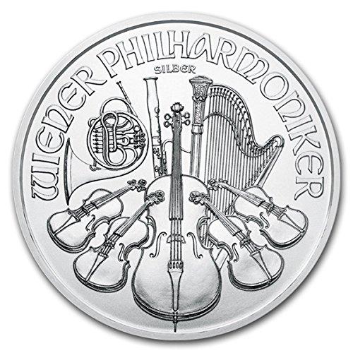 2017 AT Austrian Philharmonics Silver Coin 1 oz 999 Fine Silver 1.50 Euro Brilliant Uncirculated