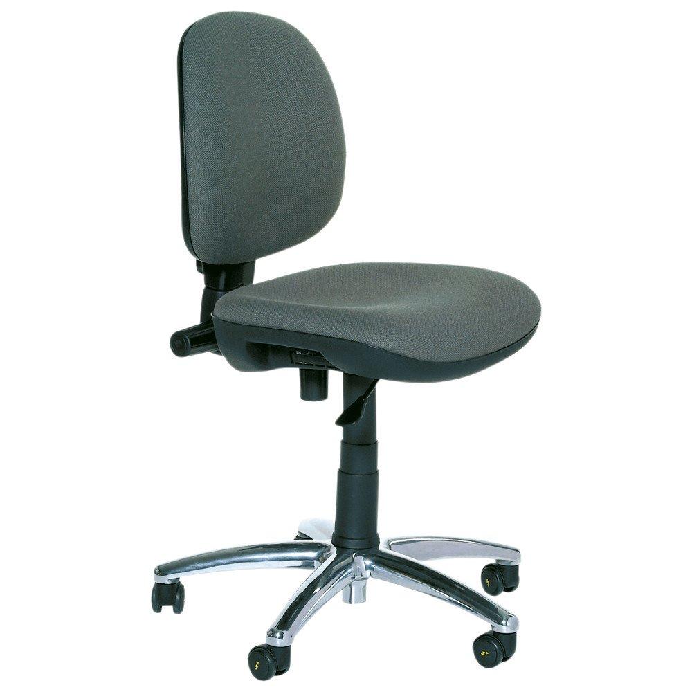 Warmbier Drehstuhl Economy Standard grau Sitzhöhe 400-520 mm ESD Schutz