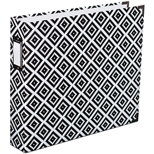 American Crafts Project Life Printed Chipboard D-Ring Album, 12 by 12-Inch, (Chipboard Scrapbook Albums)