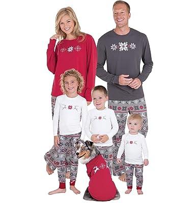 5e8522ca935fb Ensemble Pyjama Noel Famille Père Noël Enfant Femme Homme 2 Pièces Mère Fille  Garcon Homewear Chemisier Pantalon Sleepwear Renne Vêtement de Nuit  Sleepsuit ...