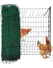 Agrarzone pluimvee net, pluimvee omheining met elektriciteit groene 25m x 106cm | Elektrische omheining | Kleine maaswijdte & stabiele | Kip hek weide omheining voor veilig pluimvee houden