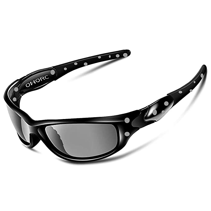 Gafas de sol omorc Deporte Sunglass polarizadas Sport Outdoor con TR90 marco irrompible para hombre Mujer