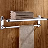 Towel Rack Wall Mounted Bathroom Towel Holder Shelf Rack 2-Layer Towel Rack