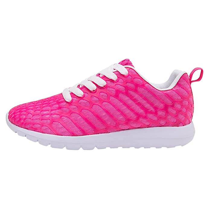 POLP Calzado Zapatos Mujer Hombre Pareja Deportivos Correr Caminar Gimnasio Transpirable con Cordone Sports Zapatillas para Athletic Sports Sneakers ...