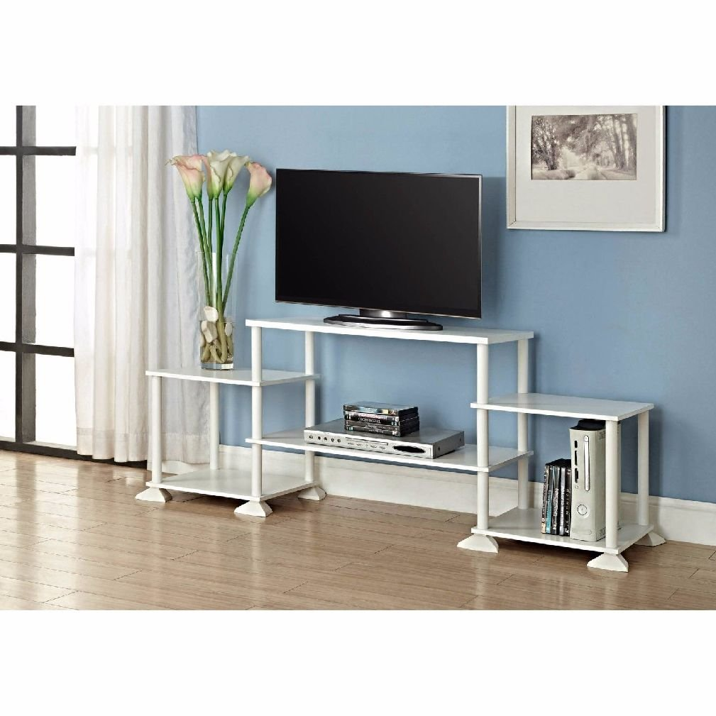 TV Stand Entertainment Center Media Console Wood Furniture Cabinet Storage Grey