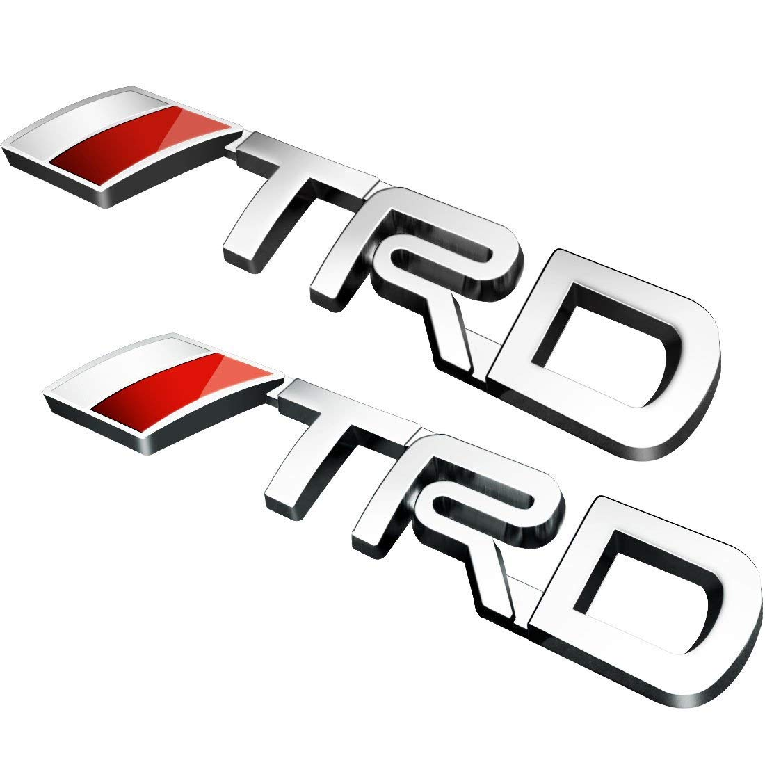 LP-BS09A 4runner,Yaris,Camry Pack of 2 Tundra Silver TRD Car Emblem Chrome Stickers Decals Badge Labeling for Fj Cruiser Supercharger Tacoma