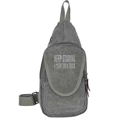 lovely Keep Staring I Might Do A Trick Fashion Men's Bosom Bag Cross Body New Style Men Canvas Chest Bags