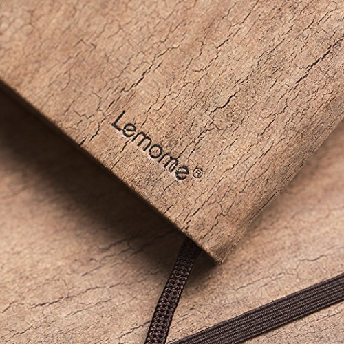 Bound Notebook Dotted Bullet Journal//Notebook A5 Eco-Friendly Natural Cork Hardcover Dot Grid Notebook with Pen Loop Premium Thick Paper 5x8In