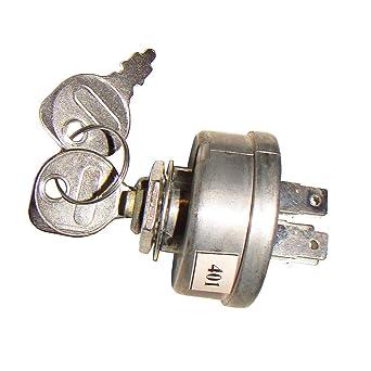 Ignition Key Switch /& Keys For John Deere AM103286 AM32318 Toro 12-8140 Tractors