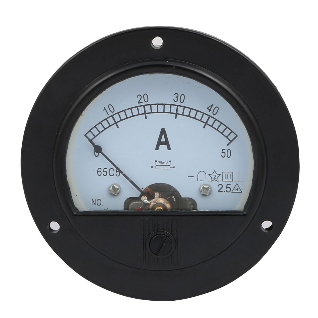 uxcell DC 0-50A Measure Range Round Analog Panel Ammeter Gauge Amperemeter Class 2.5 by uxcell