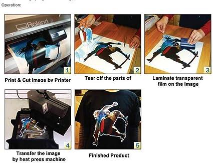 Rollo de vinilo de transferencia de calor para camiseta oscura, diseño con disolvente ecológico, color blanco, 73,66 x 22,86 cm: Amazon.es: Juguetes y juegos