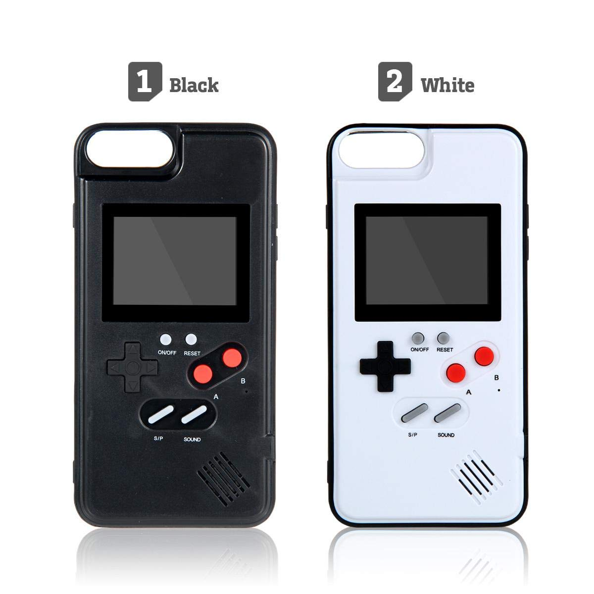 Womdee Game Console iPhone Case, Handheld Game Console Case Cover with 36 Games Phone Case (iPhone 6p/7p/8p, White) by Womdee (Image #8)