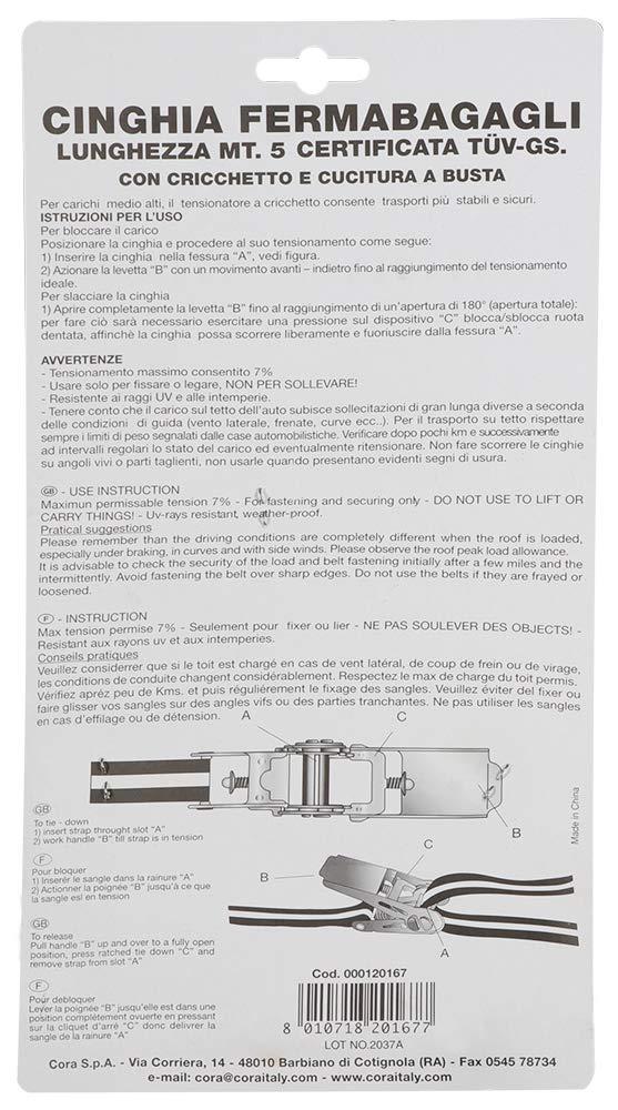 5 Metri Cora 000120167 Cinghia con Cricchetto Gstuv