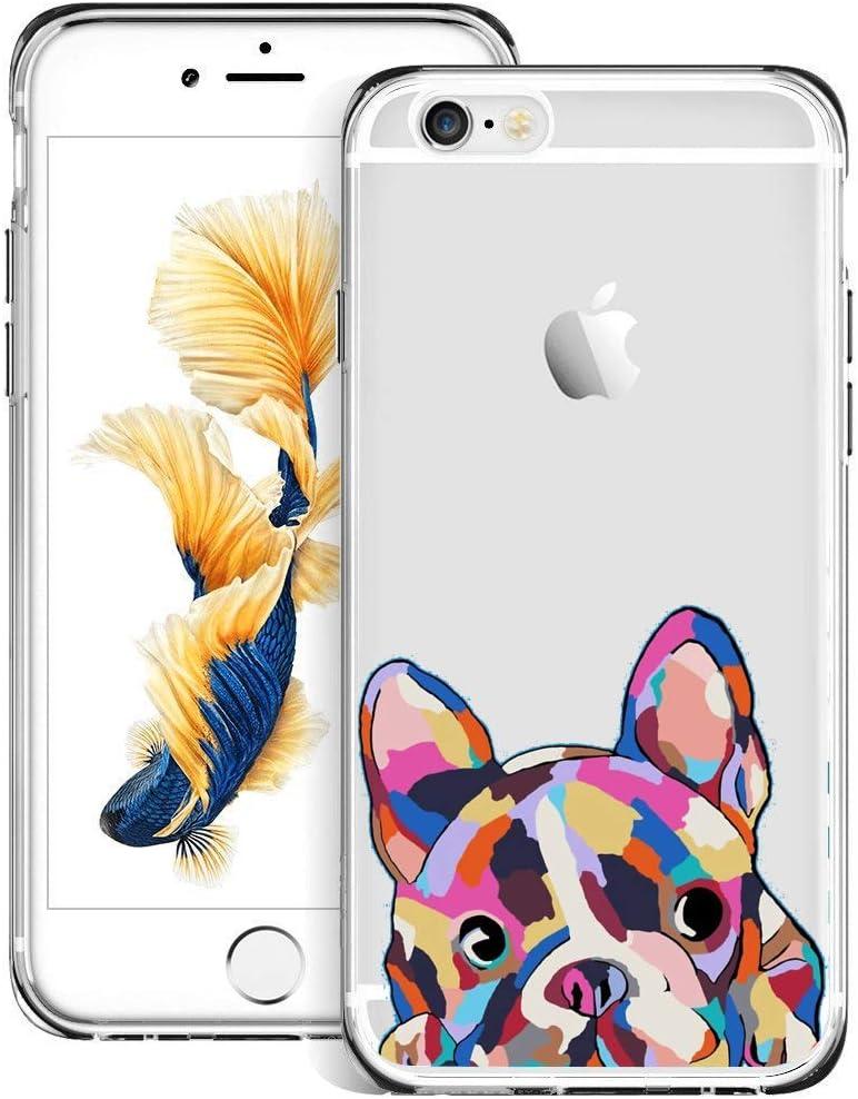 jacbob iPhone 6s Plus 6 Plus Case Dog iPhone 6s Plus 6 Plus Case Dogs Anti-Scratch Soft Durable TPU Silicone Mobile Phone Case for iPhone 6s Plus 6 Plus (Dog)