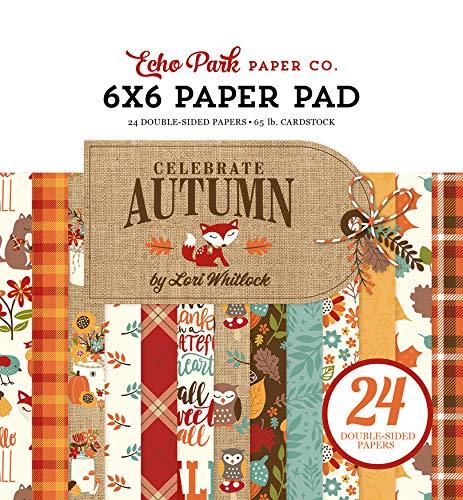 Echo Park Paper Company CAU158023 Celebrate Autumn 6x6 Pad Paper, 6-x-6