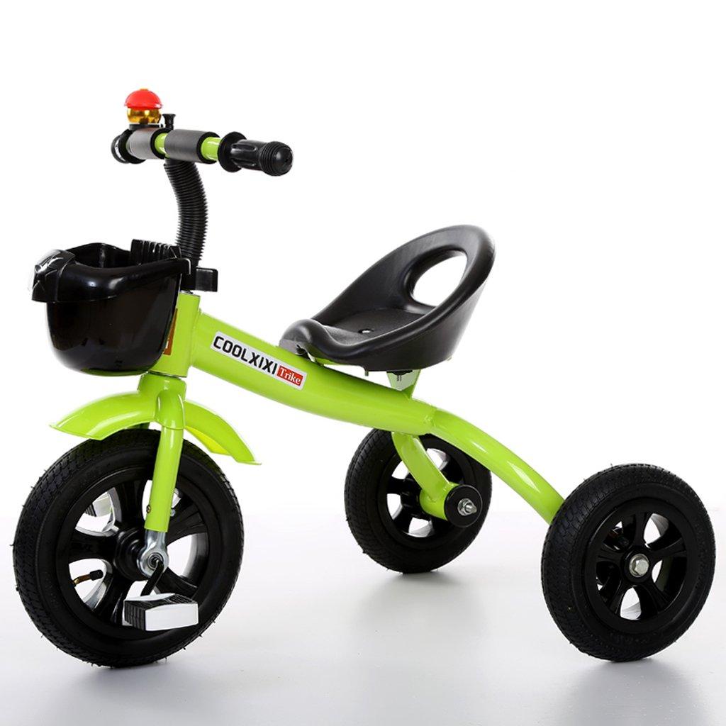 Fenfen子供の三輪車バイク2 – 5歳ベビー自転車幼児おもちゃ車、グリーン/パープル/ピンク、685057 CM B07CJZLKN1グリーン
