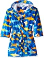 Komar Kids Shark Ocean Print Cotton Hooded Terry Robe Cover Up , Sizes 4-12