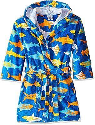 Komar Kids Shark Ocean Print Cotton Hooded Terry Robe Cover Up , Sizes 4-12