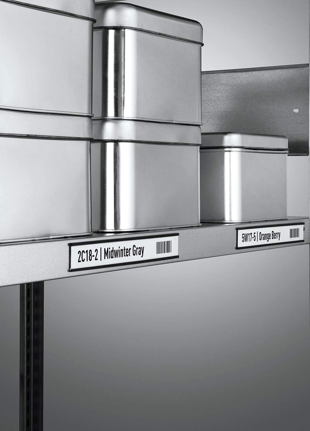 5 pezzi Durable 171158 200 x 30 mm colore: Antracite Etichette magnetiche con profilo C