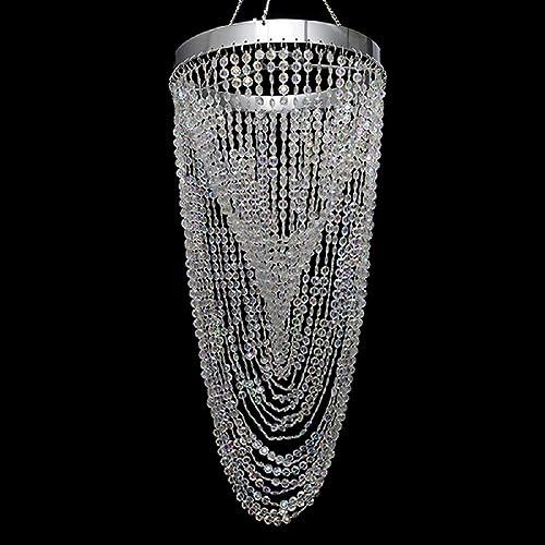 Event Decor Direct Crystal Twisted Chandelier W/Diamond-Cut Acrylic Crystal Bead