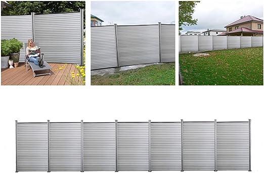 Protezione visiva WPC RECINZIONE steccato resistente alle intemperie Paravento Recinto Giardino zaunset