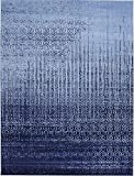 Unique Loom Del Mar Collection Contemporary Transitional Blue Area Rug (9' 0 x 12' 0)