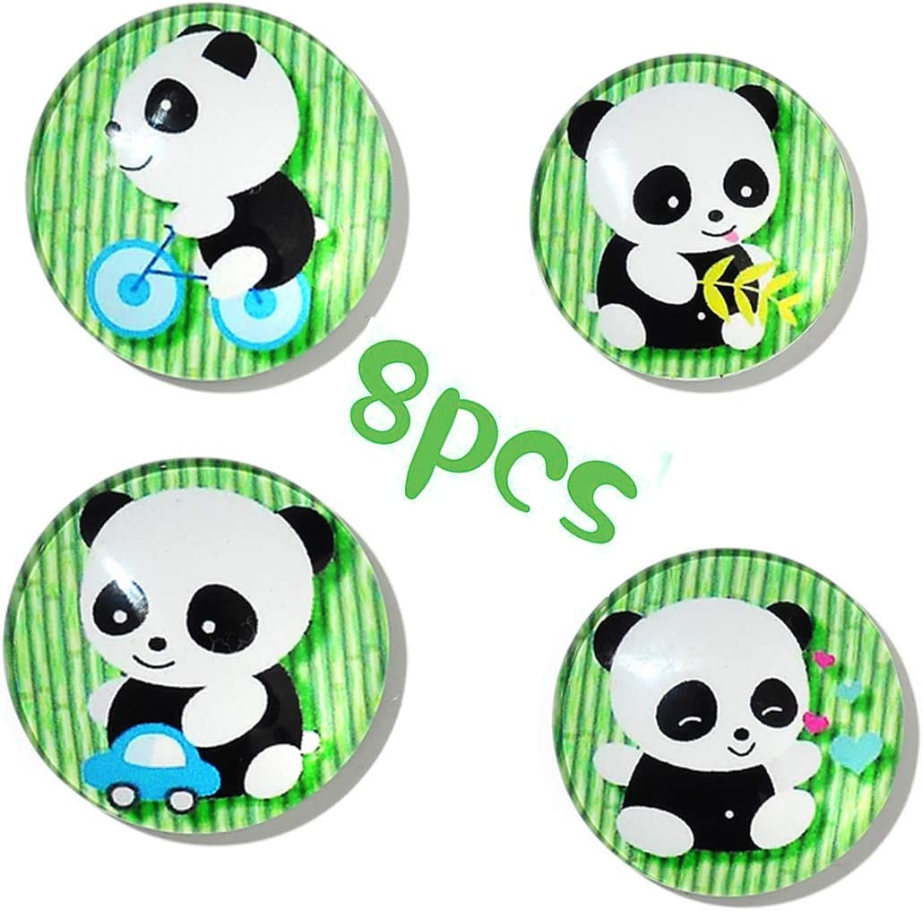 8PCS Cute Panda Refrigerator Magnets, Cartoon Refrigerator Magnet, Fridge Magnets for Office Cabinets, Whiteboards, Photos, Beautiful Decorative Magnets for Decorate Home