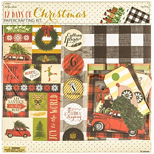Christmas Scrapbook Page Kit - 12 Days of Christmas - 12x12 Scrapbook Page (Paper Page Kit)