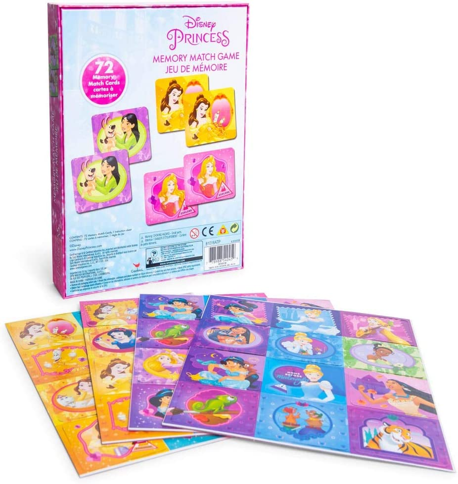 Memory Game PRINCESS Girl Pink Theme Tile Matching Cards Pick Up Pairs S1