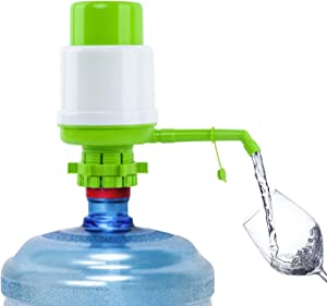 Water Bottles Pump Green Manual Hand Pressure Drinking Fountain Pressure Pump Water Press Pump with an Extra Short Tube and Cap Fits Most 2-6 Gallon Water Coolers