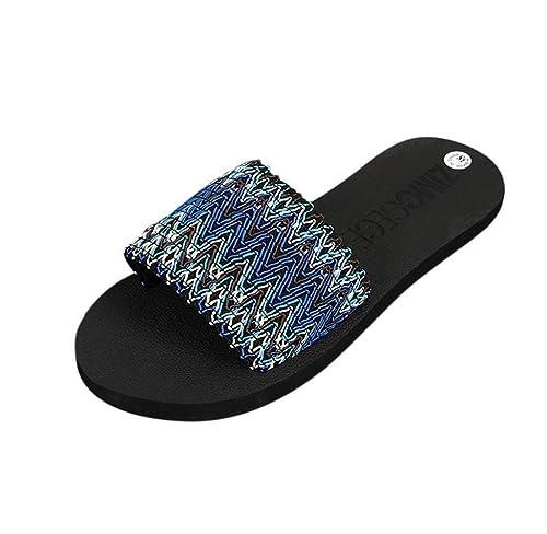 Amcool Damen Ethnischen Stil Hausschuhe Badeschuhe Sommer Schuhe Sandalen