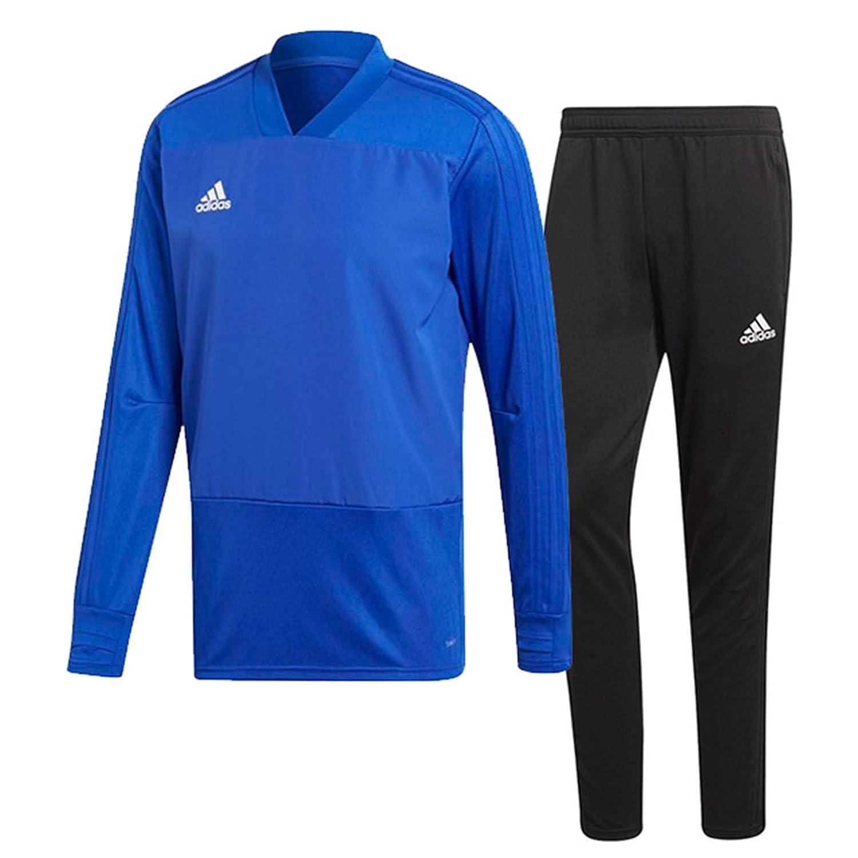 アディダス(adidas) CONDIVO18 トレーニングウエア 上下セット(ボールドブルー/ブラック) DJV18-CG0381-DJU99-BS0526 B0798L5LPSボールドブルー×ブラック 日本 J/L-(日本サイズL相当)