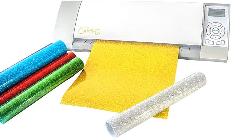 TECKWRAP Hojas de vinilo de transferencia de calor de brillo HTV para el hierro en las camisetas de prensa de calor, prendas de vestir 30cmx25cm 7 colores surtidos: Amazon.es: Oficina y papelería