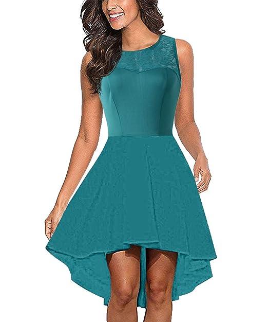 Amazon.com: CUQY - Vestido de cóctel para mujer con ...