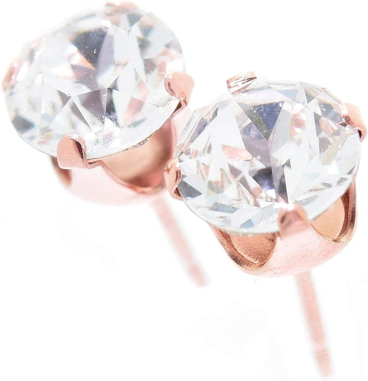 925 Sterling Silver Cute PetiteRoseStud Earrings Ear FashionWomenUK Seller
