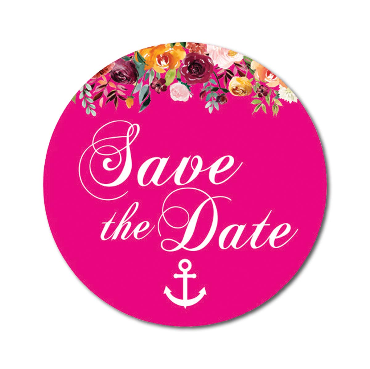 Darling Souvenir 45 Pz Avorio floreale rotondo /& Anchor Save the date autoadesivi DIY Envelope Seals-1,6 pollici