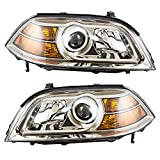 2005 acura mdx headlight assembly - Pair Set Halogen Combination Headlights Headlamps Replacement fits Acura MDX 33151S3VA12 33101S3VA12