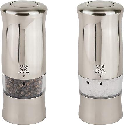 Peugeot Zeli Duo Electric Salt & Pepper Mill Set