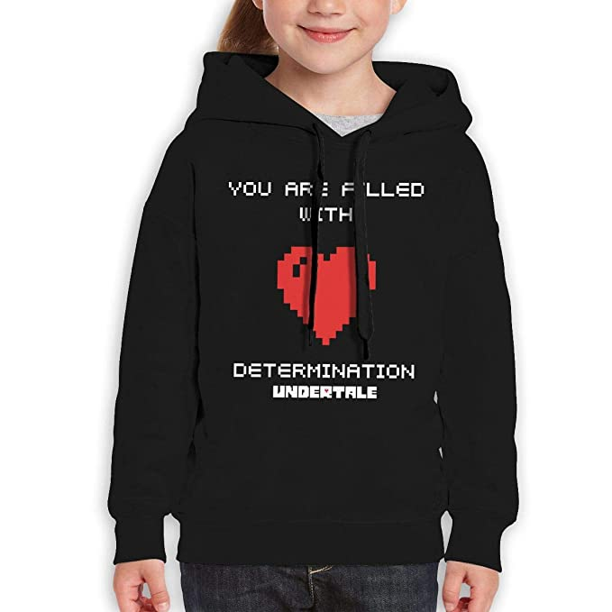 10d5fa41ac8 AlbertV Undertale Teenager Hoodies Sweatshirt for Boys and Girls Black S