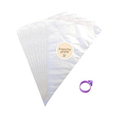 100 mangas bolsas pasteleras - Grandes y desechables - Plástico grueso - Decoración repostería tartas y Cupcake - 34,5 x 24 x 42 cm - Paquete de 100 ...