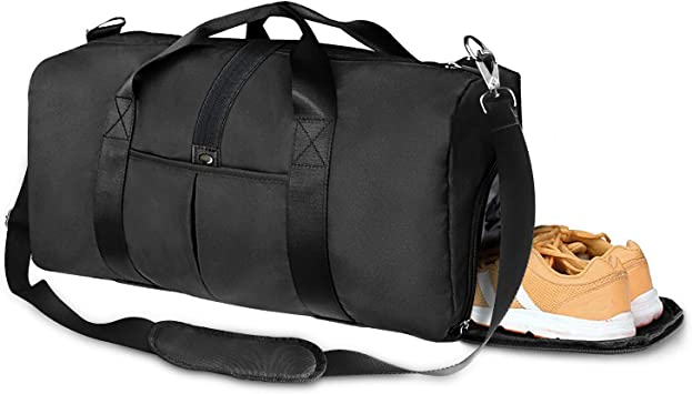 Gym Sports Small Duffel Bag for Men and Women with Shoes Compartment Sunny Day