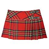 Viper London Red Tartan 13 Inch Mini/Micro Mini Kilt Skirt - US 8