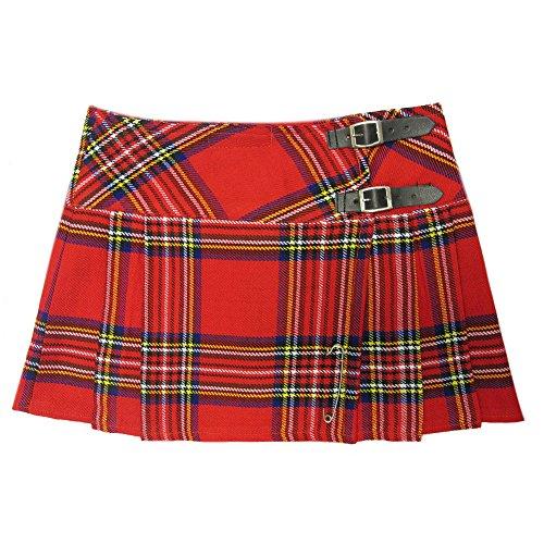 Viper London Red Tartan 13 Inch Mini/Micro Mini Kilt Skirt - US 26