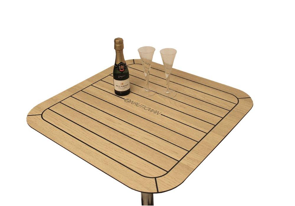 NAUTICMAN® Bootstisch 60cm x 60cm Nordic Oak