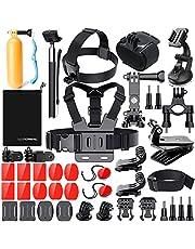 Zubehör für Gopro, Action Kamera Zubehör Set für Go Pro Hero 7 Hero 2018 Hero 6 5 4 3 2 1 Hero Session 5 Black AKASO EK7000 Apeman und die Meisten Sport Kamera von LUSCREAL.