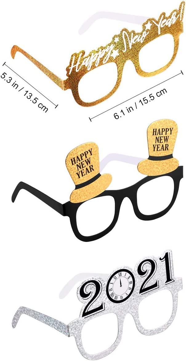 Happy New Year Glasses 2021 New Year Party Glasses Celebration Party Favor for New Years Eve Party Supplies 12 Pack