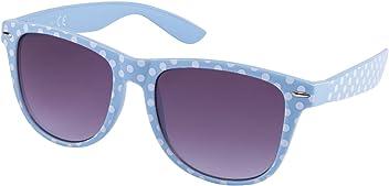 """SIX """"Trend Retro Sonnenbrille in hellblau mit weißen Polkadots (324-245)"""