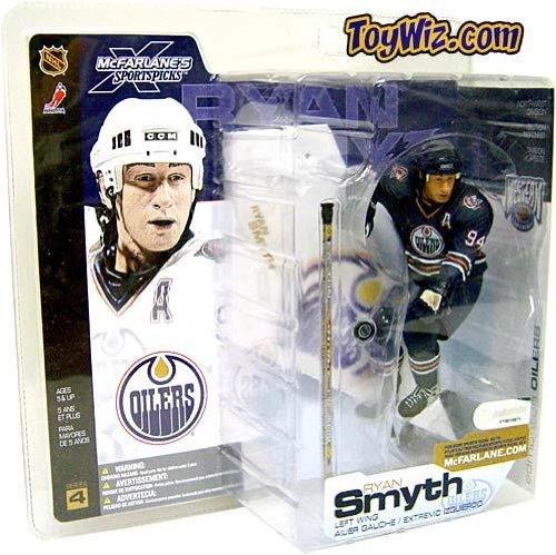 McFarlane Toys NHL Sports Picks Series 4 Action Figure: Ryan Smyth (Edmonton Oilers) Blue Jersey (Ryan Smyth Edmonton Oilers)