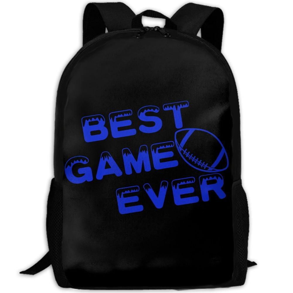 Football Best Game Ever Double Shoulder Backpacks For Adults Traveling Bags Full Print Fashion by THIS STORE